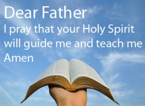 Guide me, Oh Lord in your word.