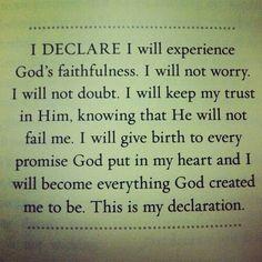 declare faith
