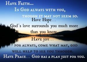 Faith In God Works!
