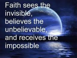 faith sees