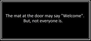the mat at the door
