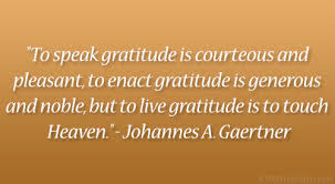 gratitude touches heaven