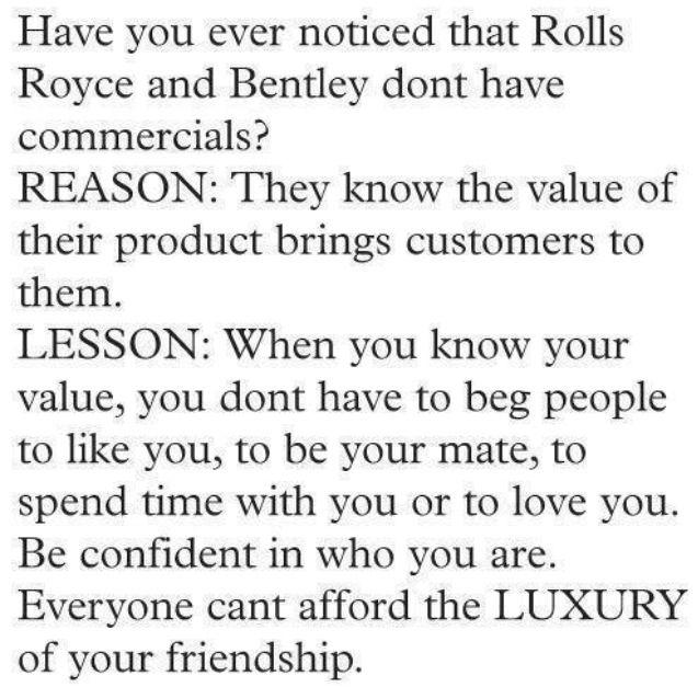 luxury of friendship