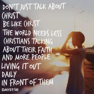 living a christlike life