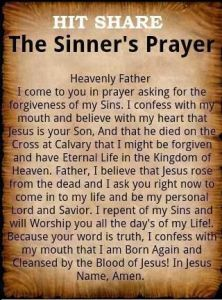 sinners prayer