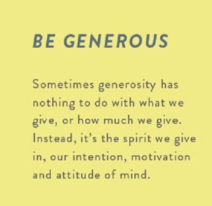 be-generous
