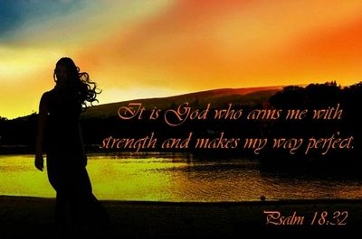 psalm-13-32-sunset-god-who-arms-me-with-strength-and-mkes-way-perfect
