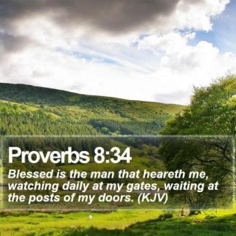 Proverbs 8 34